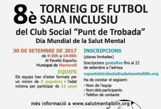 Obertes les inscripcions pel VIII Torneig de Futbol Sala Inclusiu