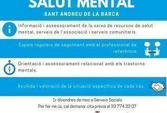 Nou punt d'informació i assessorament en salut mental a Sant Andreu de la Barca